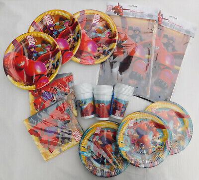Disney Big Hero 6 Teller Servietten Tischdecke Becher Kindergeburtstag Deko Set ()