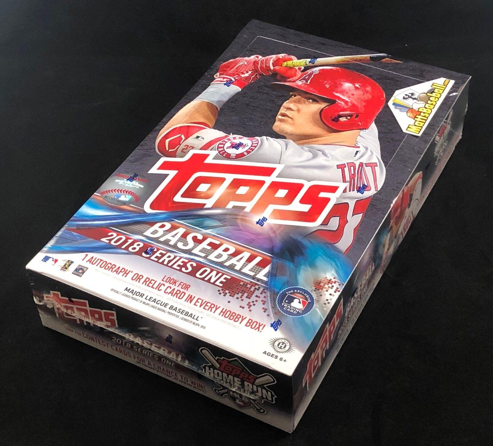 2018 Topps Series 1 Baseball Sealed Hobby Box 36 packs/10 cards + Silver Pack