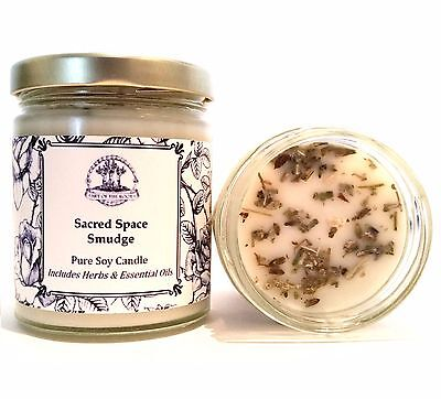 Sacred Space Soy Spell Candle Negativity Cleansing Peace Harmony & Tranquility
