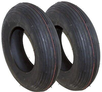 2x 4.80/4.00-8 4 Ply Tubeless Rib Tread Tire 36 PSI DOT Trailer, Wheel barrow Wheelbarrow Rib Tire