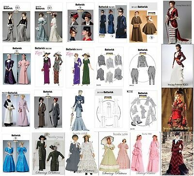 Butterick  Burda Sewing Pattern Costume Victorian Edwardian Movie Titanic Era (Era Costumes)