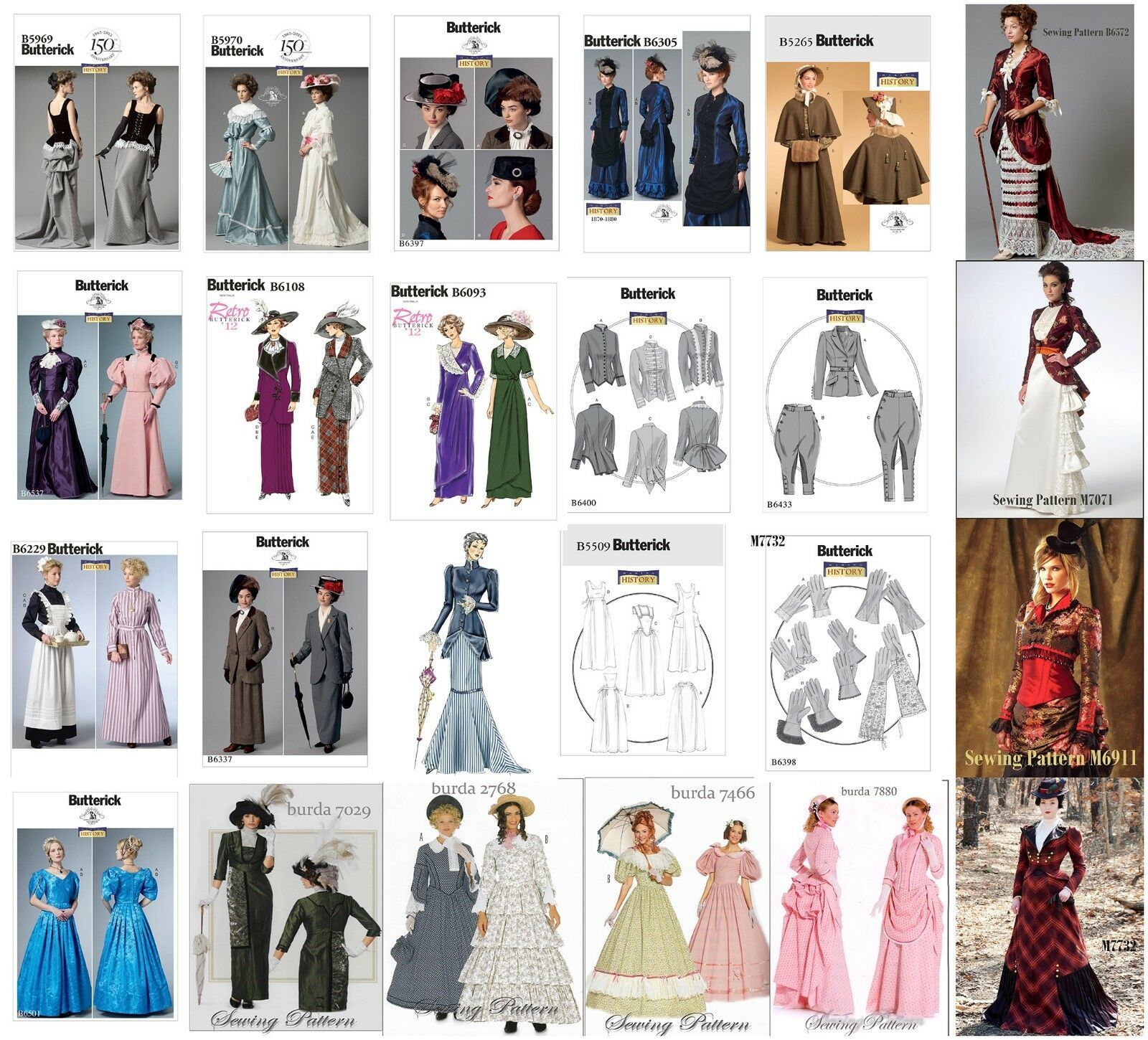 Butterick  Burda Sewing Pattern Costume Victorian Edwardian