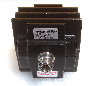 Weinschel 1440-3 Dc To 6 Ghz 100 Watts 50 Ohm Type N F Coaxial Load