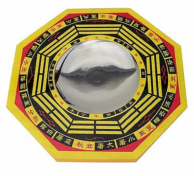 """6""""  LARGE FENG SHUI CHINESE CONCAVE BAGUA BAQUA MIRROR ~ Feng Shui ~ US Seller"""