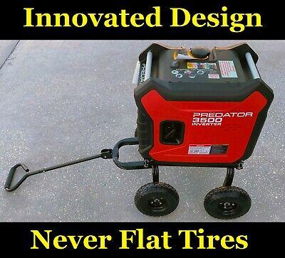 Swivel Axle Wagon Style Wheel Kit 10 No Flat Tires For Predator 3500 Generator
