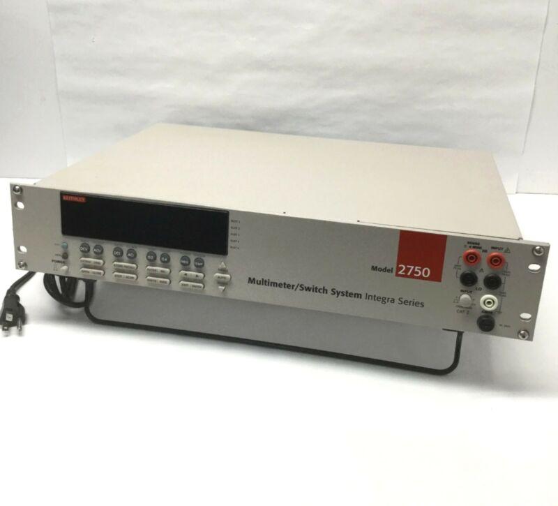 "Keithley 2750 Integra Digital Multimeter/DAQ/Switch System IEE-488, 19"" Rack 2U"