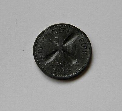 ERSATZMÜNZEN: 10 Pfennig 1918, J. 299, OFFIZIELL ENTWERTET !!!