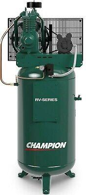Champion 5 Hp 2 Stage 1 Phase 230 Volt 19.1 Air Compressor Curtis 555vt6 5e2vt6