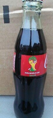 2014 COCA COLA FIFA WORLD CUP SOCCER BRAZIL 8 OUNCE GLASS COKE SODA BOTTLE
