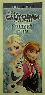 Disneyland CALIFORNIA ADVENTURE Guidemap 2015 FROZEN FUN Anna & Elsa Map Disney](Fun Adventure Maps)
