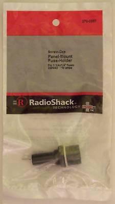 Radioshack Screw-cap Panel Mount Glass Fuse Holder 10a 250vac Fits 1-14 X 14