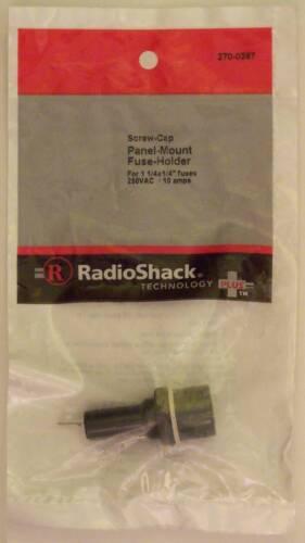 "RadioShack Screw-Cap Panel Mount Glass Fuse Holder 10A 250VAC fits 1-1/4"" x 1/4"""