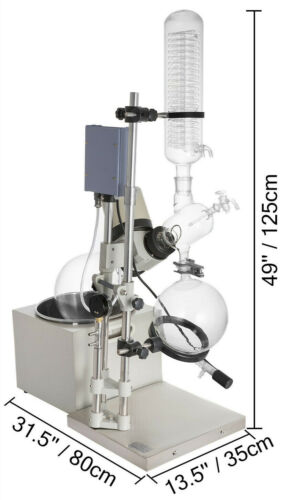 5L Rotary Evaporator WITHOUT Vacuum Pump & Chiller
