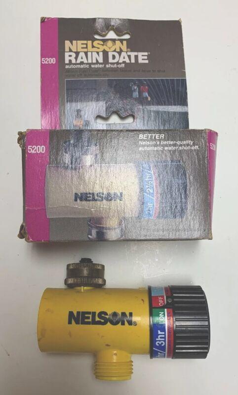 NELSON 5200 RAIN DATE AUTOMATIC HOSE WATER SAVER SHUT OFF TIMER CONTROLLER VALVE