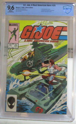 G.I. JOE (Marvel) #25 CBCS 9.6 NM+ 1984 First full Zartan/Firefly/Others Not CGC