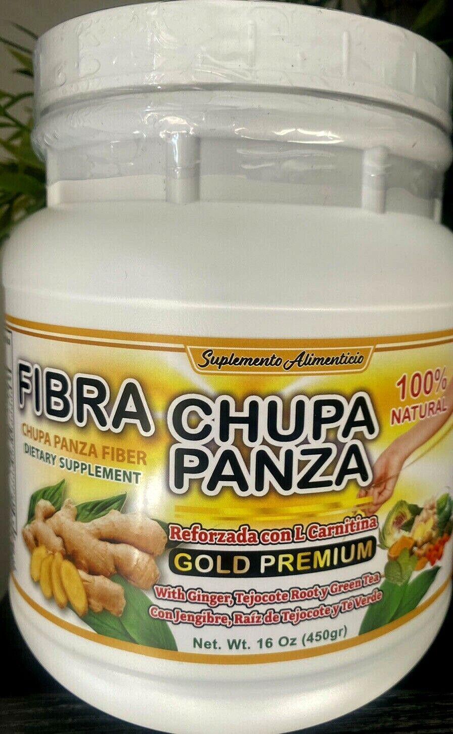 Fibra Chupa Panza100% Natural PREMIUM L CARNITINA 16oz TEJOCOTE ROOT & GREEN TEA