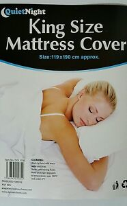 King Size WATERPROOF PROTECTIVE FITTED MATTRESS COVER PROTECTOR Vinyl Wetting