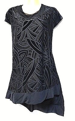 TS top TAKING SHAPE plus sz S / 16 Night Of Day Velour Top stretchy luxe NWT!