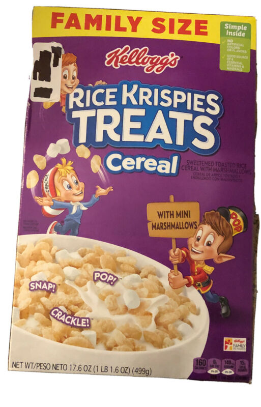 Family Size Rice Krispies Treats Cereal - Discontinued Recipe
