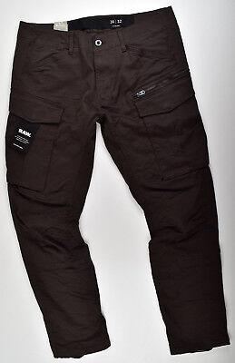 6d72aa29224d G-STAR RAW, Rovic Zip 3D Tapered, Cargohose Jeans W40 L32 Braun