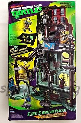 Teenage Mutant Ninja Turtles Secret Sewer Lair Playset Grosses Hauptqvartier (Großes Ninja Turtles)