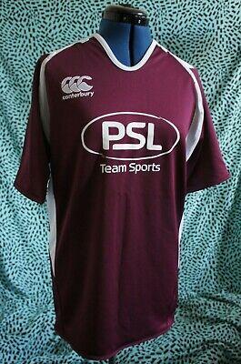 White Training Top T-shirt - Canterbury Vapodri Poly Rugby Training Top T-Shirt Size LARGE burgundy/white