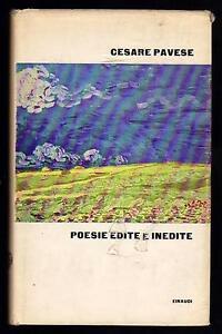 CESARE-PAVESE-POESIE-EDITE-E-INEDITE-A-CURA-DI-ITALO-CALVINO-EINAUDI-1962-1-ED