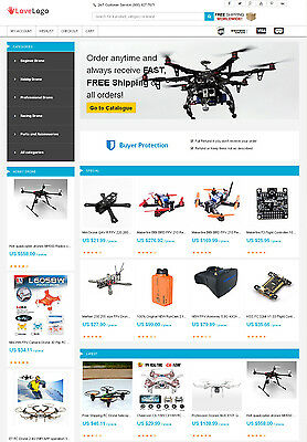 Drones Store - Aliexpress Affiliate Website Free Hosting