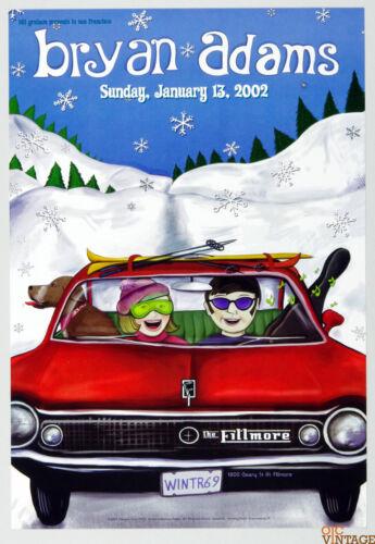 Bryan Adams Poster 2002 Jan 13 New Fillmore