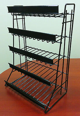 5 Tier Shelf Counter Top Snack Gum Card Potato Chip Candy Display Rack - Black