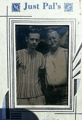 ANTIQUE VINTAGE JUST PAL'S HANDSOME CUTE YOUNG MEN MAN TOP FASHION GAY INT PHOTO