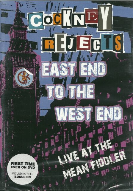 COCKNEY REJECTS East End To The West End CD+DVD Punk KBD Oi! SKINHEAD New/SEALED