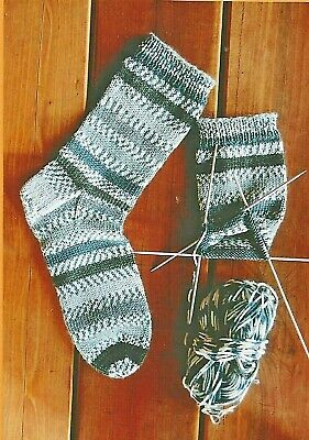 Beginner's Mid-Weight Socks Knitting Pure & Simple Easy Pattern #242 Adults