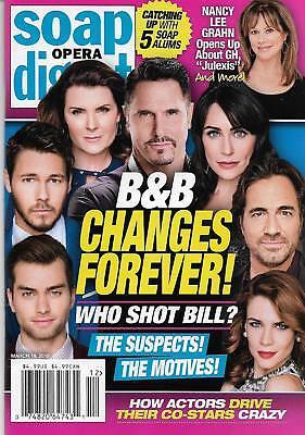Soap Opera Digest Magazine   March 19  2018 Bold   The Beautiful Kimberlin Brown