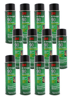 3m 30023 90 Hi-strength Clear Contact-type Adhesive Spray 17.6 Oz 12 Pack