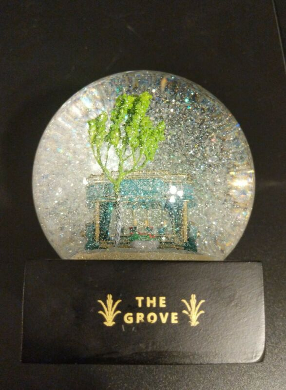 CoolSnowGlobes The Grove Trolley Los Angeles Rick J Caruso Snow Globe RARE