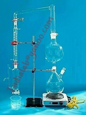 Buy Brand New Essential Oil Steam Distillation Apparatus Kit Coil Condenser Lab