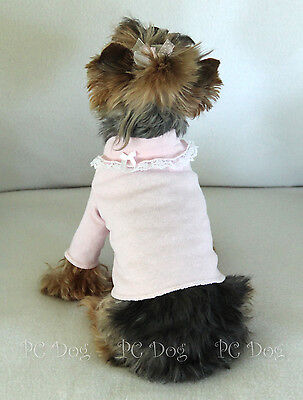 S New Pink and Lace Dog Turtleneck shirt clothes pet Clothing Small PC Dog®