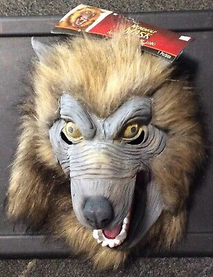 HALLOWEEN WEREWOLF MASK WITH BROWN HAIR NEW WITH TAGS  BEST ON MARKET ](Halloween Best Masks)