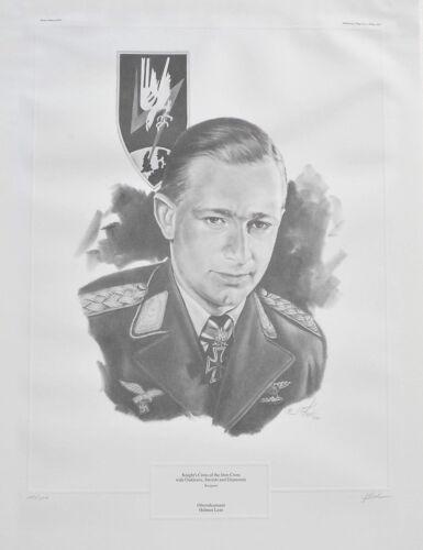 Oberstleutnant Helmut Lent Limited Edition 147/500 Sketch Print Signed by Artist