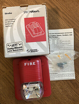 System Sensor S241575 Spectralert Selectable Output Wall Red Fire Alarm Strobe