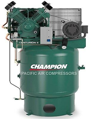 Champion 3 Phase 7.5hp 2 Stage 80 Gal Air Compressor 25.8 Cfm Loaded