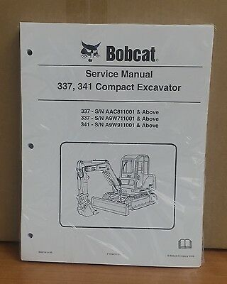 Bobcat 337 341 Compact Excavator Service Manual Shop Repair Book 6986746