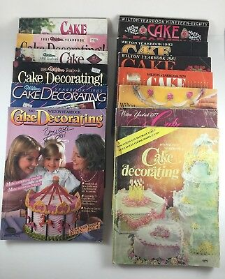 13 Cake Decorating Wilton Yearbook back issues ideas/instruction 70s 80s - 80s Decorations Ideas