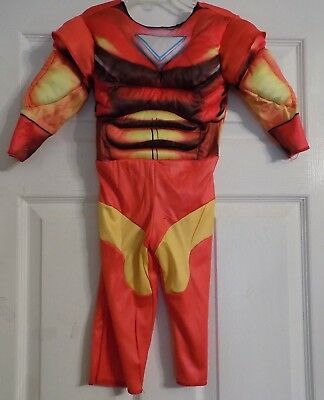 Toddler Marvel Super Hero Squad Iron Man Halloween Muscle Costume Size 2T