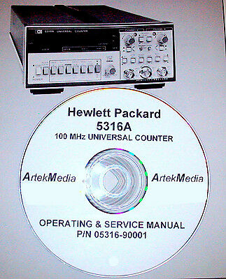 Hp 5316a Operating Service Manual Complete
