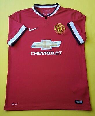 d144df080ba 4.8 5 Manchester United jersey large 2014 2015 shirt 611031-624 Nike soccer  ig93