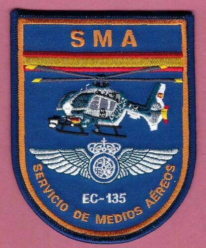 SPAIN GUARDIA CIVIL SMA SERVICIO DE MEDIOS AEREOS EC-135 POLICE HELICOPTER PATCH