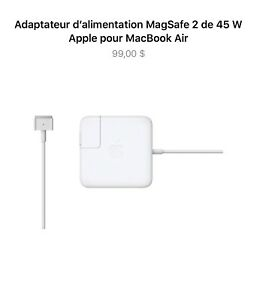 Chargeur Macbook Air 45w magsafe 2