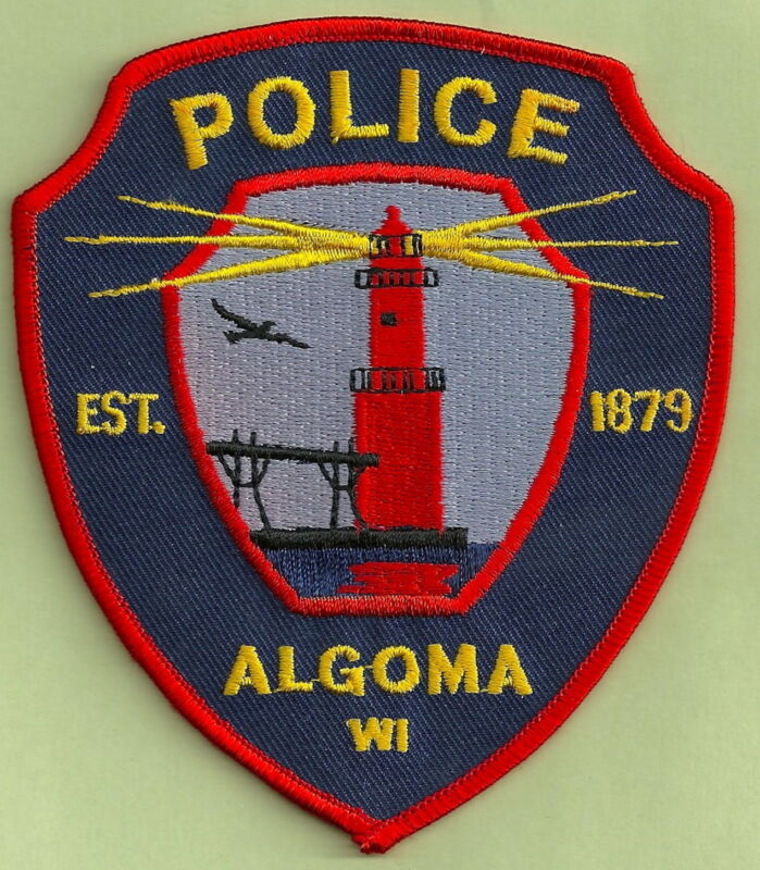 ALGOMA WISCONSIN POLICE SHOULDER PATCH LIGHTHOUSE